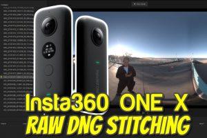 Insta360 One X Raw DNG stitching