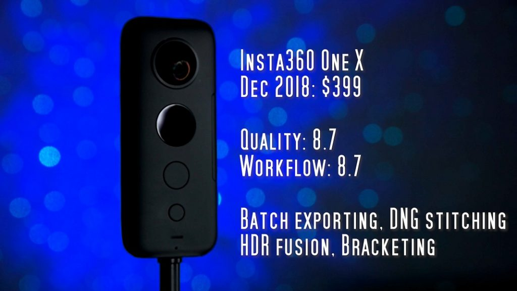 Insta360 One X has excellent workflow