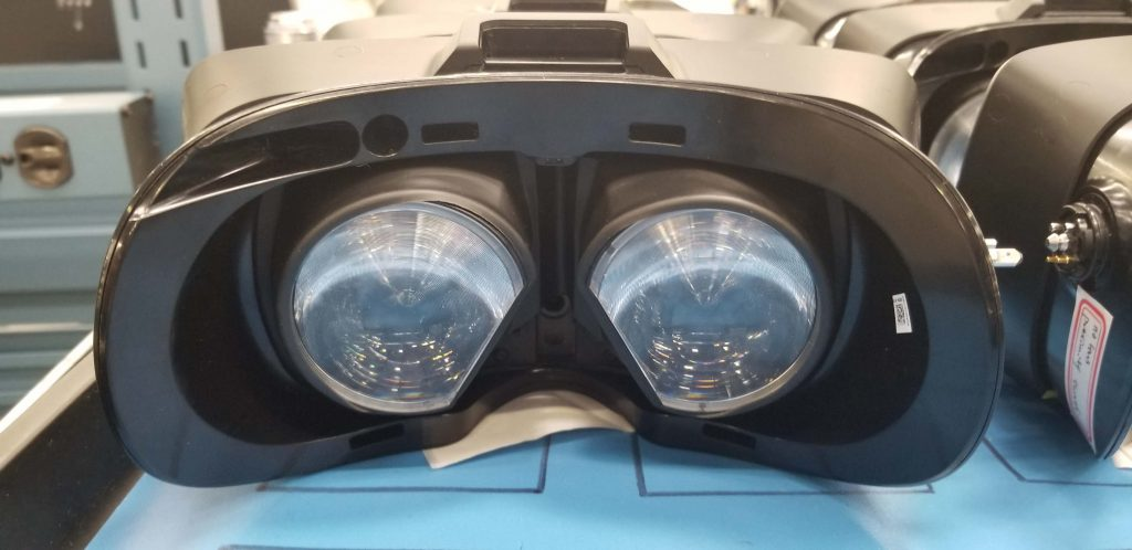 Valve Index VR headset features large lenses, hinting at a wider field of view