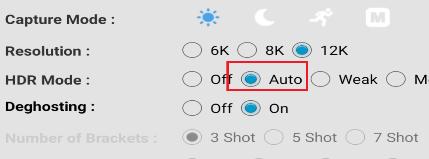 Intelligent HDR setting