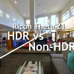 Theta Z1 HDR vs Non-HDR comparison