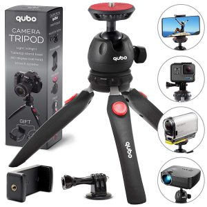 Qubo tripod with accessories