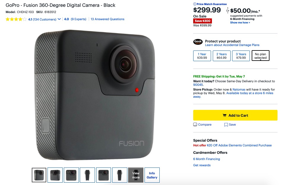 GoPro Fusion $299: new Fusion coming soon? - 360 Rumors