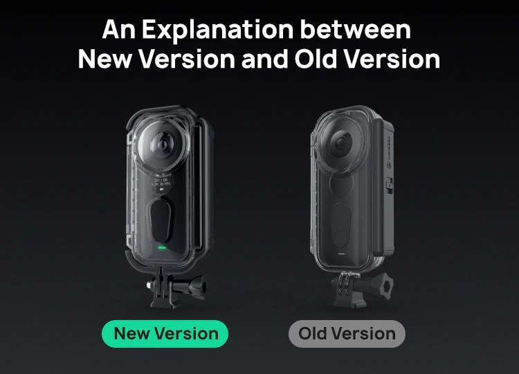 Insta360 One X Venture Case old vs new