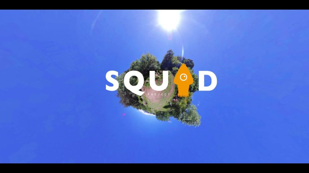 SquidProject 360 is an invisible 360 camera drone with Insta360 cameras