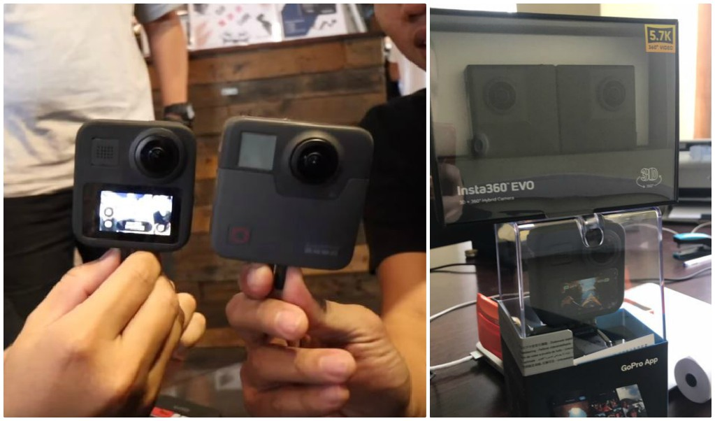 GoPro MAX size: MAX is noticeably more compact than Fusion