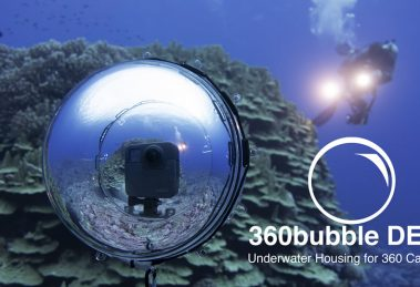 New 360Bubble Deep dive case for 360 cameras