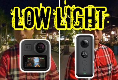 GoPro MAX vs Insta360 One X low light and stabilization comparison