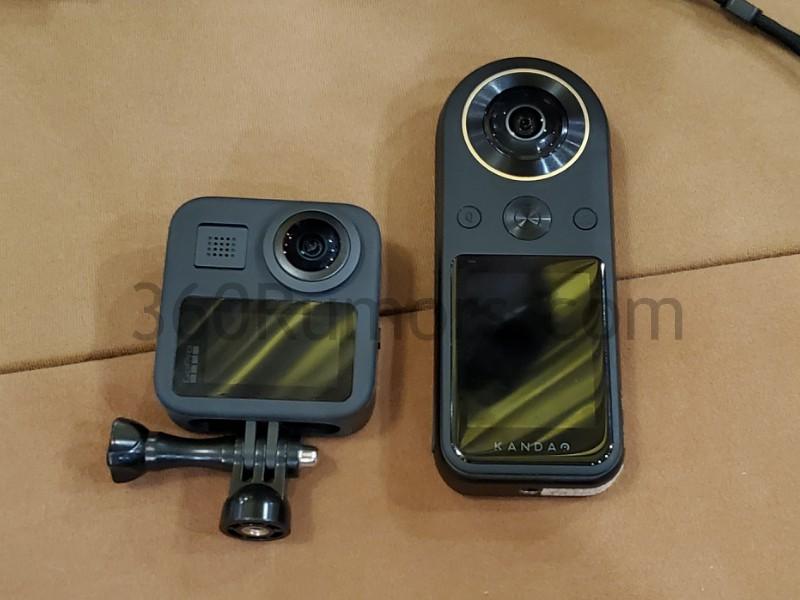 Kandao Qoocam 8K vs GoPro MAX size