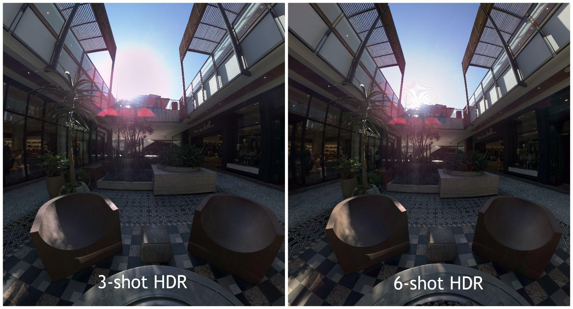XPhase Pro S - 3-shot vs. 6-shot HDR