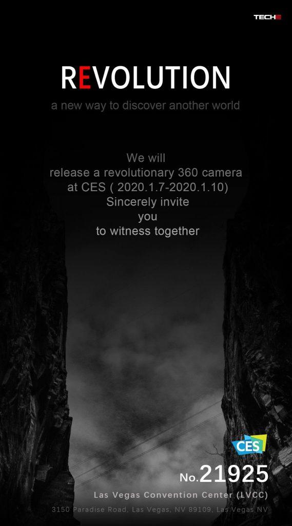Teche Revolution new 360 camera at CES 2020