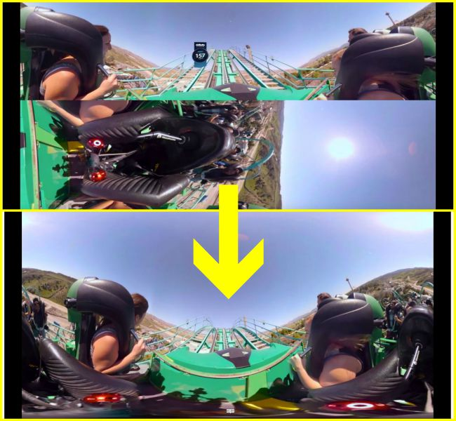 Convert Youtube 360 video equiangular cubemap to standard equirectangular format