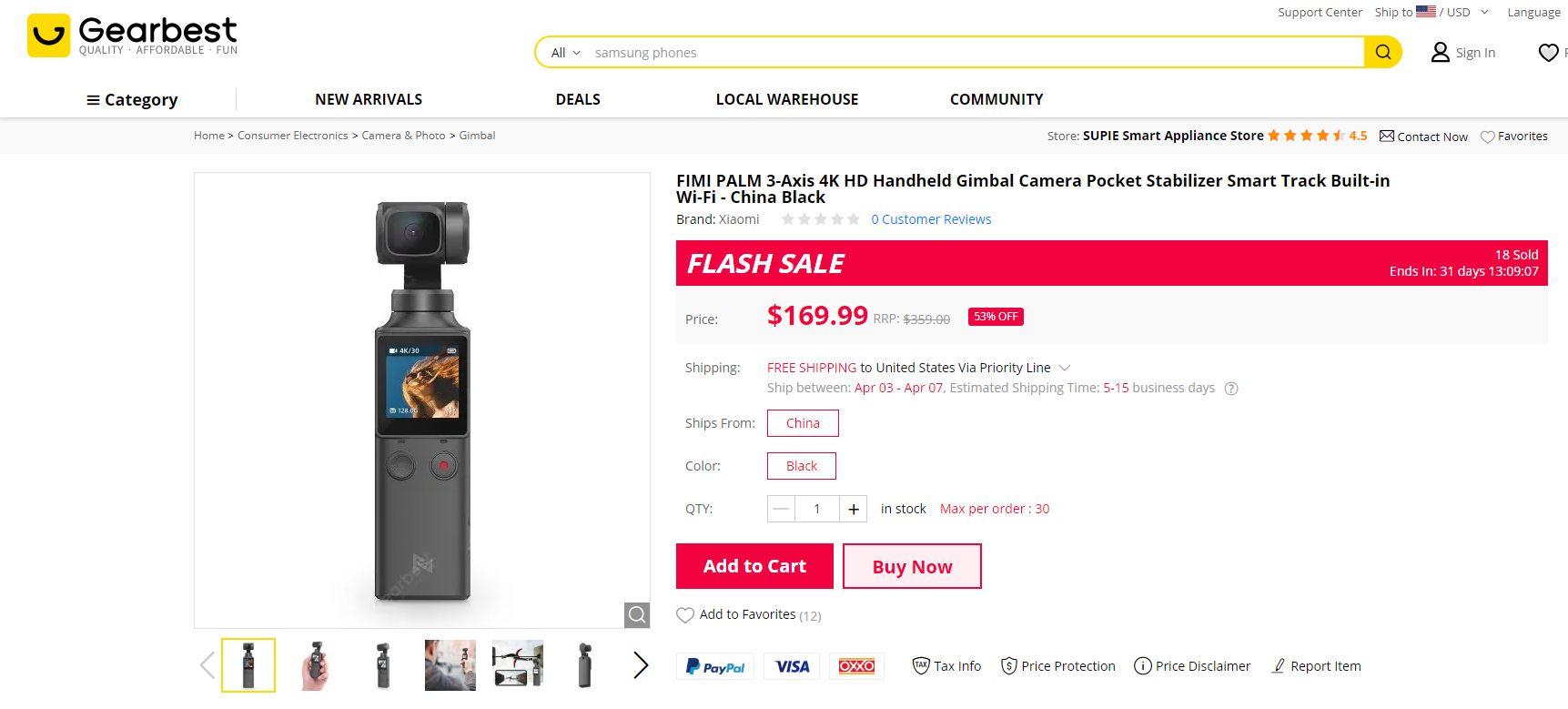 Fimi Palm $100 discount ($169)