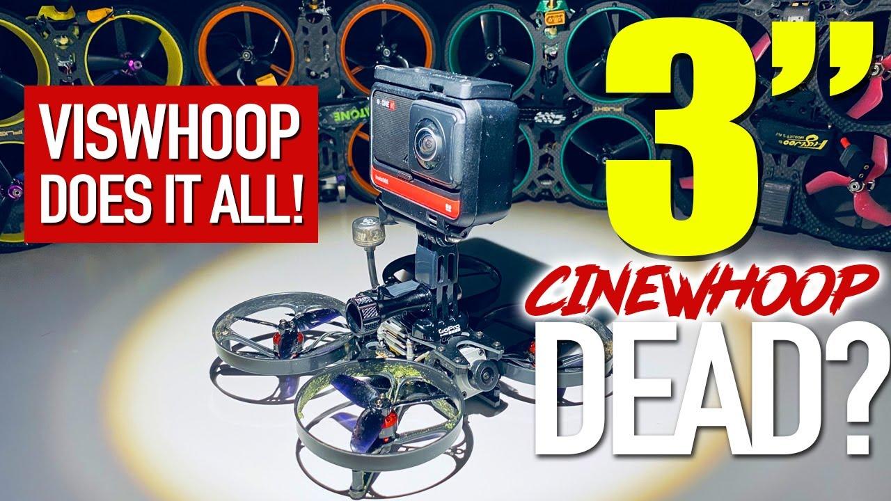 Eachine Viswhoop - smallest cinewhoop FPV drone for Insta360 One R or GoPro Hero