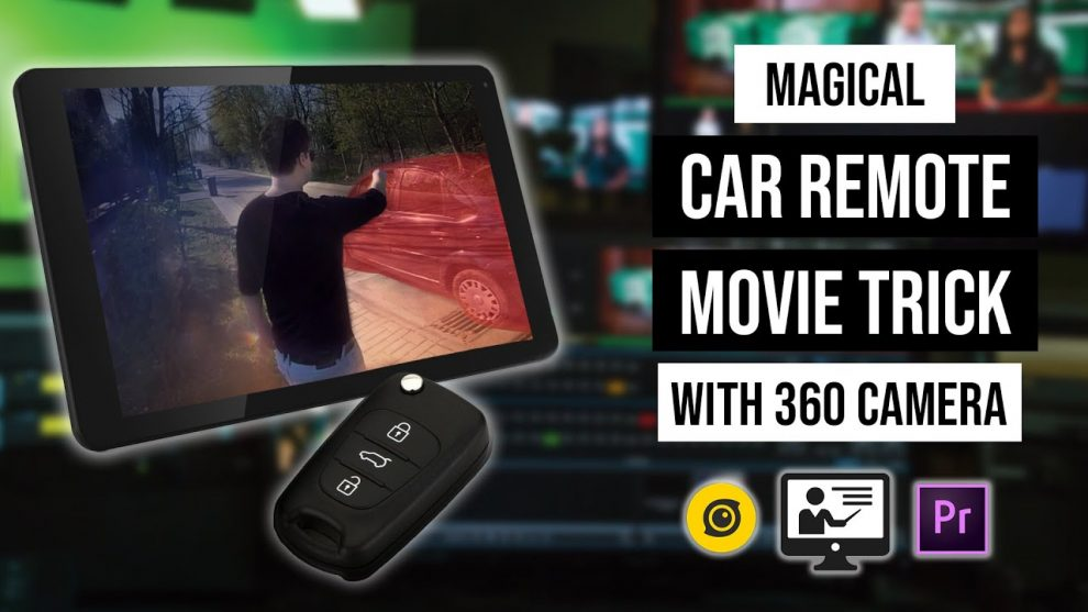 Making a car disappear with a 360 camera