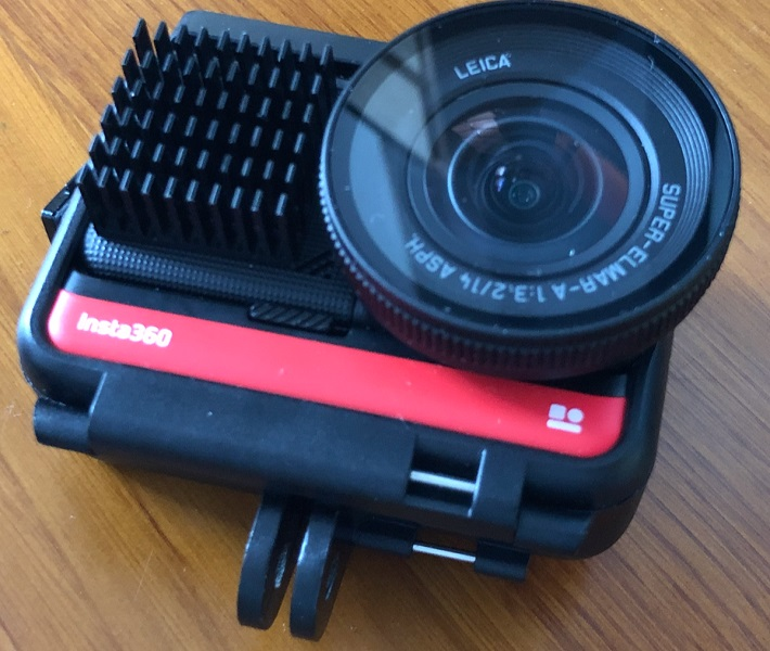 Insta360 One R records over 50 minutes with a heat sink