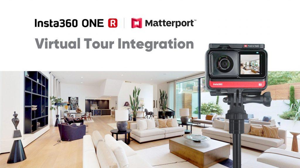 Insta360 One R virtual tour adds Matterport