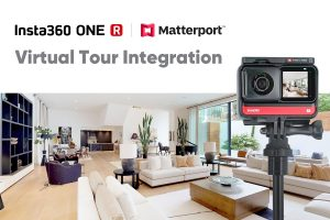 Insta360 One R virtual tour adds Matterport