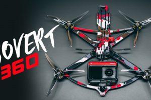 Four invisible 360 camera drones