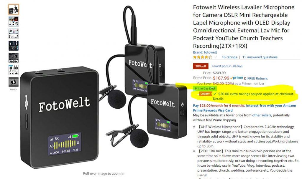 Rode Wireless Go alternative with 2 transmitters