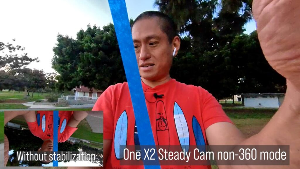 Steady Cam horizon lock can level a camera even if it is upside down