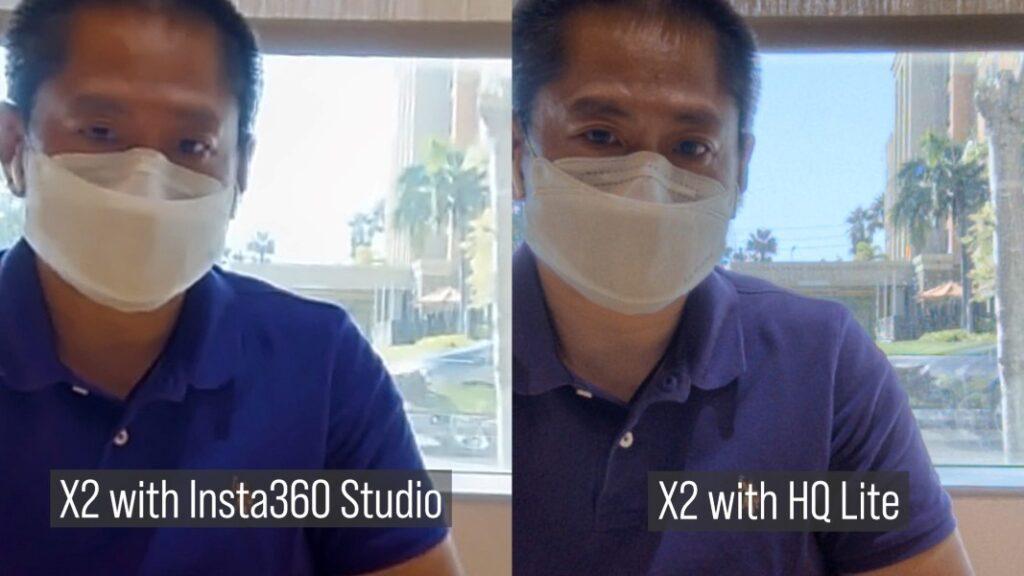 Insta360 One X2 merged in Insta360 Studio beta version vs HQ Lite workflow