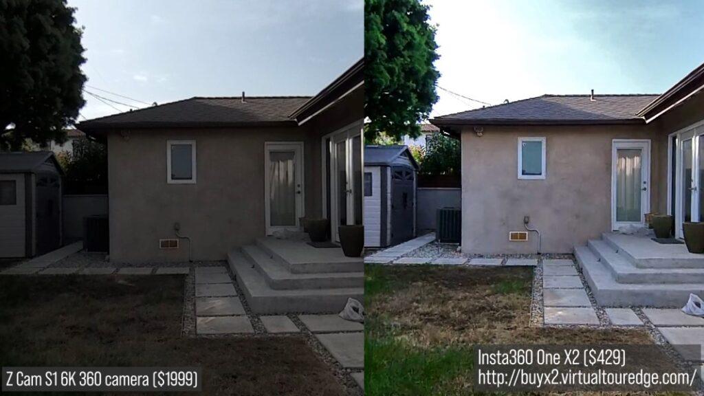 Z Cam S1 (left) vs Insta360 One X2 (right)