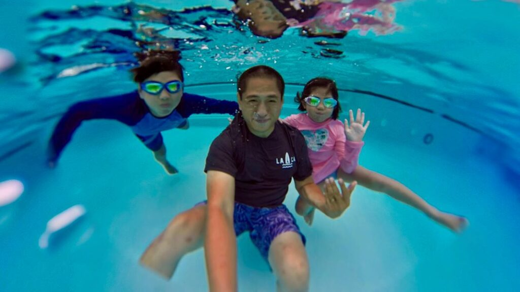 Insta360 One X2 is waterproof even without a case. However, to stitch a 360 photo smoothly underwater, you'll need the optional dive case.
