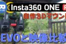 DIY Insta360 One R 3D mod vs Insta360 Evo (VR180 sample videos)